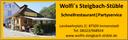 Logo von Wolfi's Steigbach-Stüble - Schnellrestaurant | Partyservice
