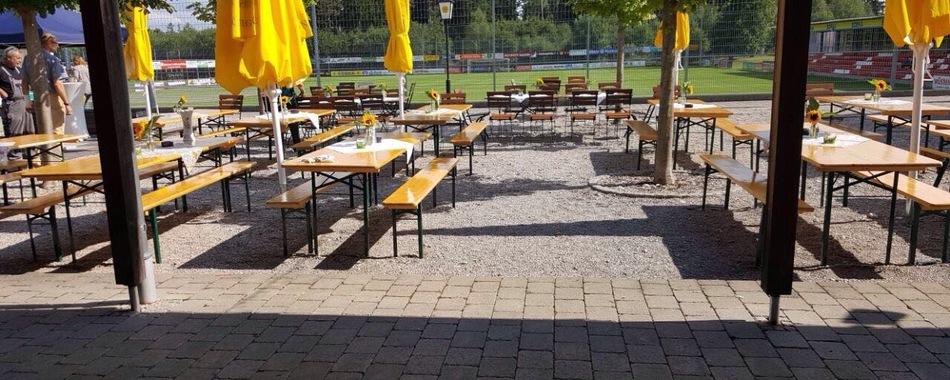 gemütlich sitzen und genießen - im Biergarten - Dao's Gaststätte - Mittagstisch - Buffet - Catering