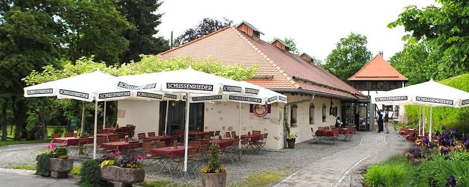 Mittagstisch - bei guter Witterung auch gerne auf der Terrasse der Klostergaststätte im Kloster Heiligkreuztal
