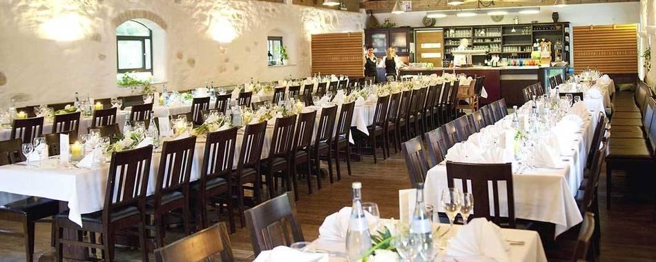 feiern und genießen - in der Klostergaststätte im Kloster Heiligkreuztal in Altheim