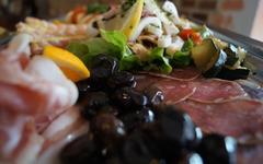 Antipasti-Teller - gerne auch als Mittagstisch in der Osteria la  Vigna