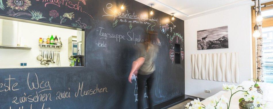 Essen gehen Oberstdorf im gxünd. Wochenmenüs und Tagesmenüs. Im gxünd in Oberstdorf gibt es eine vielfältige Auswahl an wechselnden Mittagessen. An Guata!