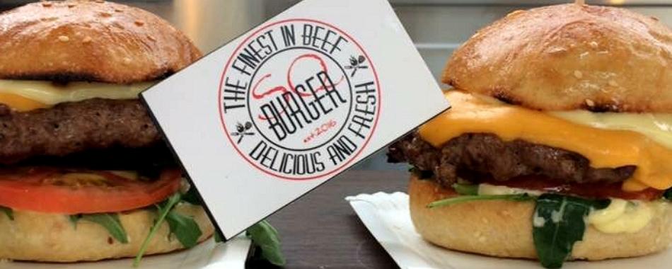 mittags und abends - Burger der Spitzenklasse im SQ Burger Restaurant in Laupheim.