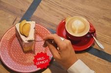 im Pur Natur gibt es auch Kaffeespezialitäten und Tees, sowie Torten, Kuchen und und und - vielleicht nach dem Mittagessen?