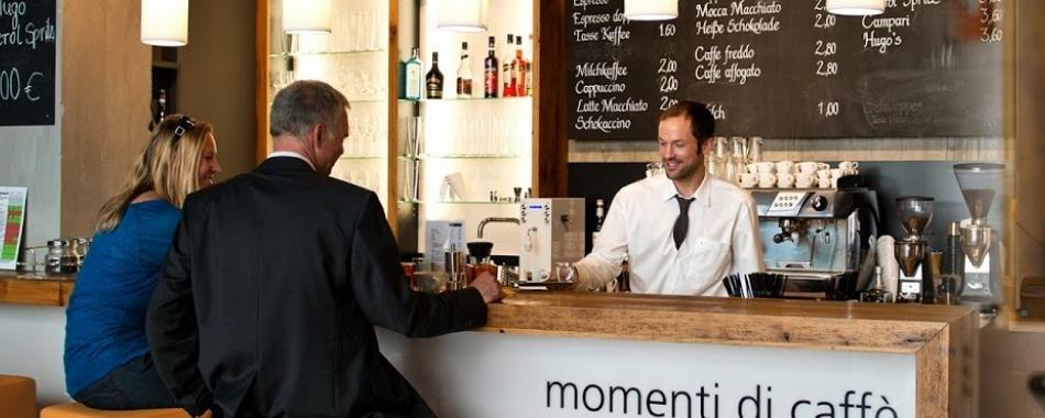 mit Freunden und Kollegen - Kaffeespezialitäten, leckere Pastagericht, Aperitivi genießen im Bellazzo in Kempten - Restaurants - Imbisse - Gasthäuser - Buffet - mittags abends