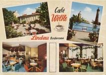 Cafe Wölfle Lindau - historische Ansichtskarte