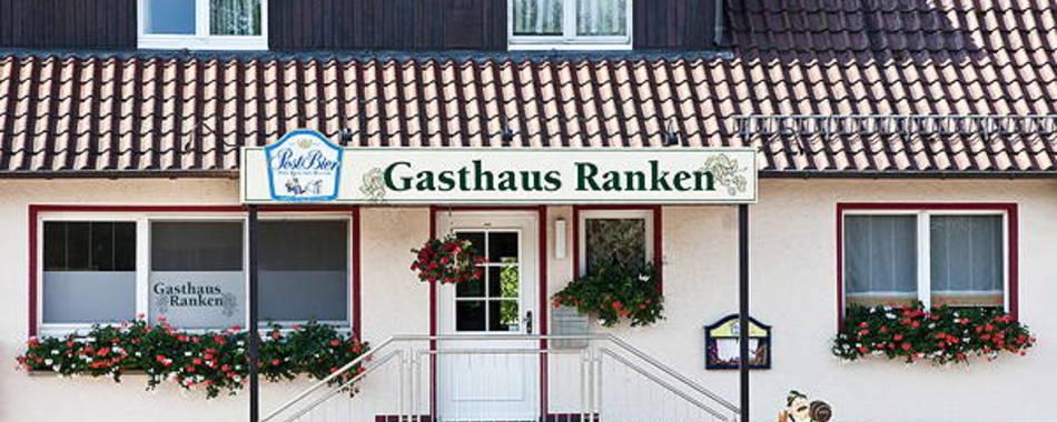 Eingangsfront zum Tagesessen im Gasthaus Ranken