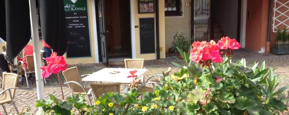 Sonnenterrasse vom Kaffeekännle in Tettnang - hier kann man gut sitzen
