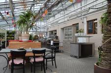 im Liebenauer Landleben kann man zu mittag essen - im Glashauscafe, mit täglich wechselnden Mittagsgerichten - und das von Montag bis -Freitag